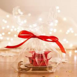 PREZENT świąteczny Sanki z krówkami Naturalne Święta