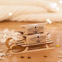 PREZENT świąteczny Sanki z krówkami Zimowy Wieczór