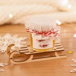 PREZENT świąteczny Miód na saneczkach Poinsecja