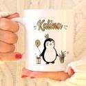 KUBEK na prezent Z IMIENIEM Pingwinki