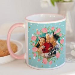 KUBEK na prezent świąteczny dla dziecka Z TWOIM ZDJĘCIEM Króliczki
