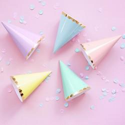 CZAPECZKI urodzinowe Pastelowe MIX 6szt
