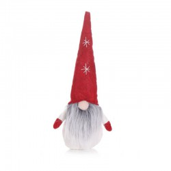 SKRZAT krasnal świąteczny siedzący DUŻY 30cm Czerwony