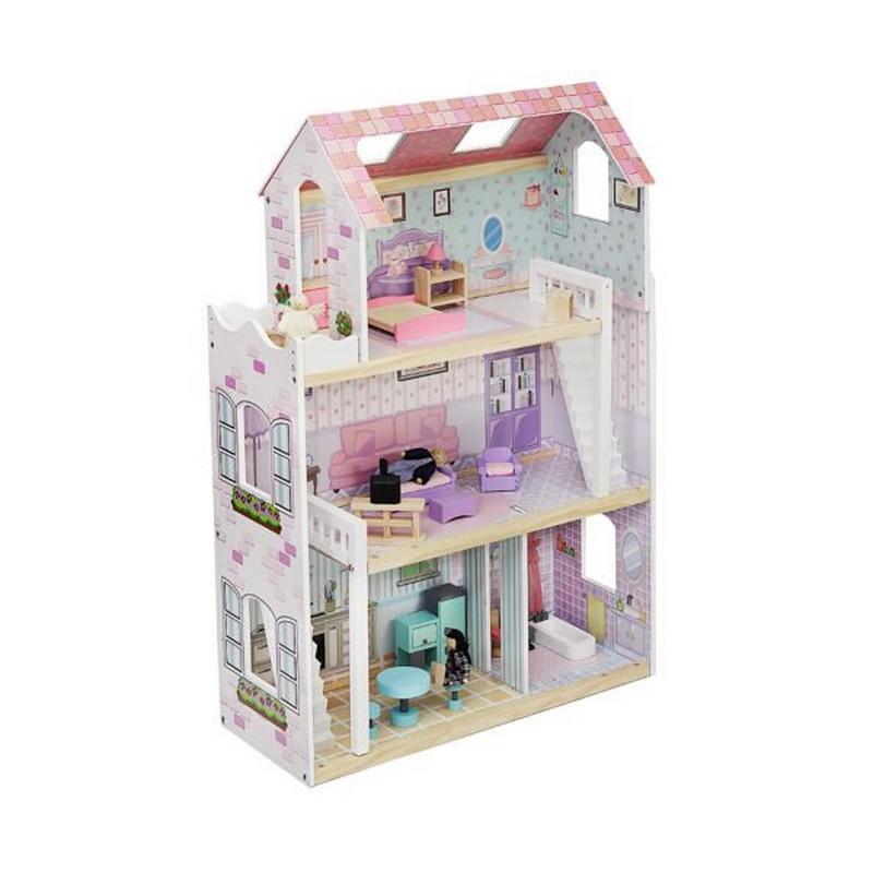 Domek dla lalek drewniany dla dziewczynki