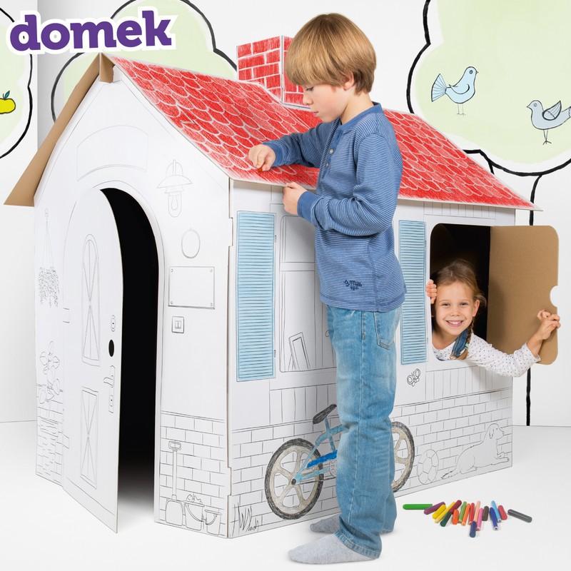 Domek do kolorowania dla dzieci