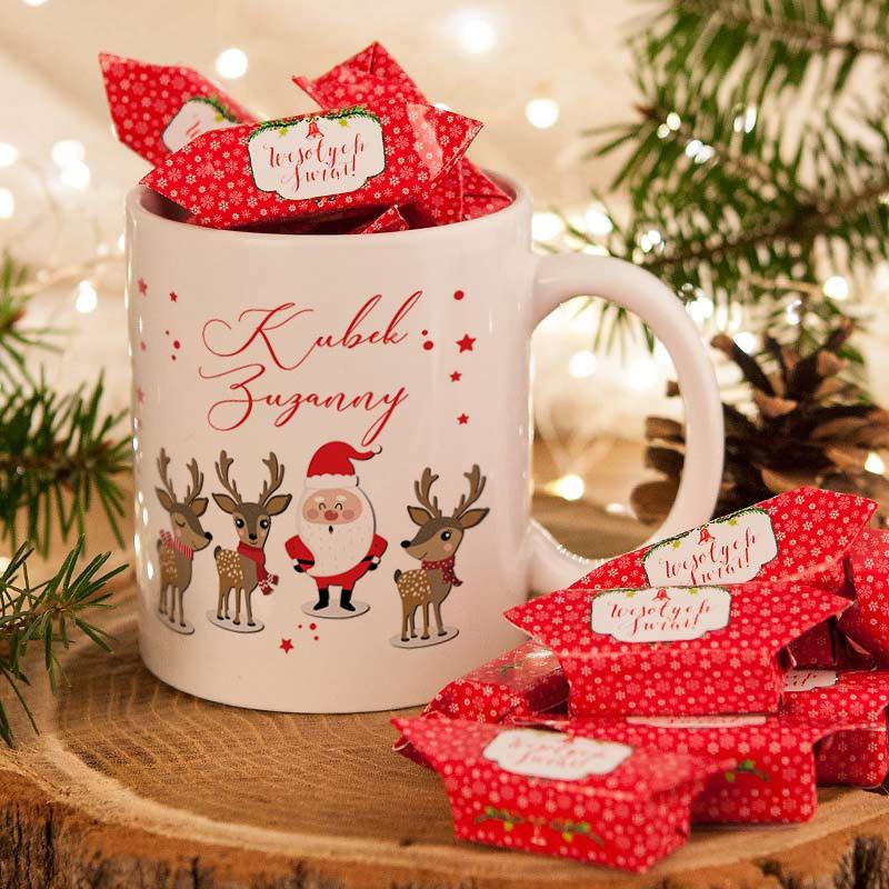 Kubek świąteczny z krówkami