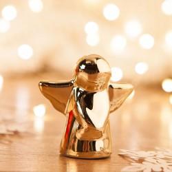 ANIOŁ na upominki świąteczne dla dzieci 5cm ZŁOTY