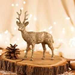 RENIFER dekoracja świąteczna brokatowy Glamour