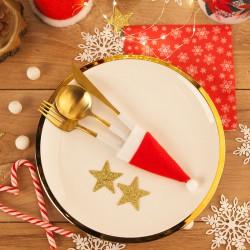 KIESZONKI na sztućce etui świąteczne Czapka Mikołaja