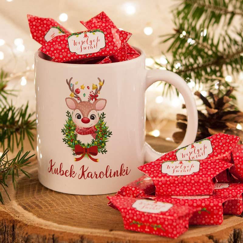 Kubek świąteczny z krówkami dla przedszkolaka