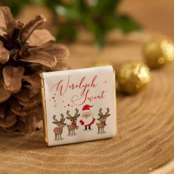 CZEKOLADKA świąteczna na prezent dla dzieci Mikołaj i renifery