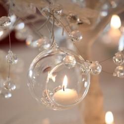 BOMBKI szklane dekoracja świąteczna DIY 4szt