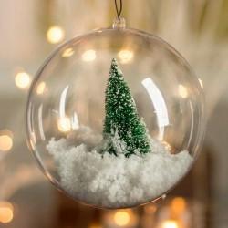BOMBKA akrylowa świąteczna do własnej aranżacji 10cm