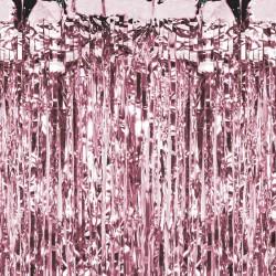 KURTYNA metaliczna dekoracyjna 90x250cm ROSEGOLD