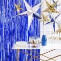 KURTYNA metaliczna dekoracyjna 90x250cm GRANAT