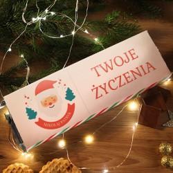PREZENT świąteczny MEGA CZEKOLADA 300g List od Świętego Mikołaja Z PODPISEM