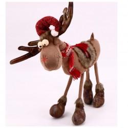 RENIFER łoś świąteczny na 4 nogach 45cm SUPER JAKOŚĆ