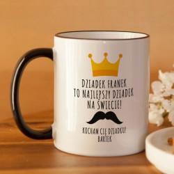 PREZENT na Dzień Dziadka kubek Król Dziadek jest tylko jeden Z PODPISEM