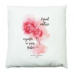 PREZENT na Dzień Babci poduszka Kwiaty Z IMIONAMI