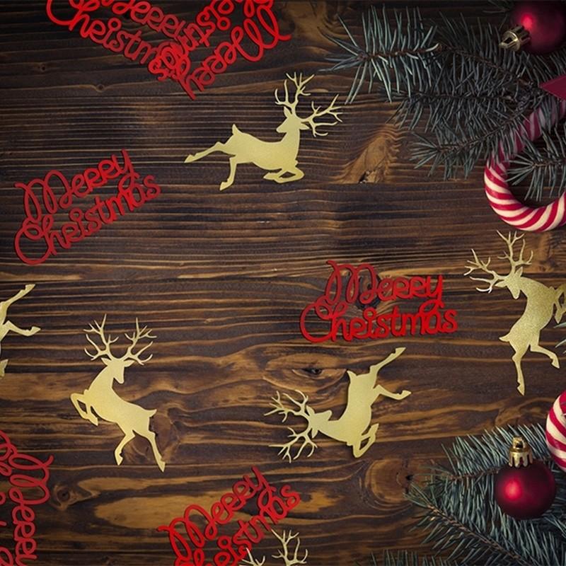 Konfetti świąteczne w kształcie napisów Merry Christmas