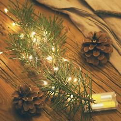 DRUCIK świetlny microLED dekoracja świąteczna na baterie 5m 50 ledów MEGA DUŻY