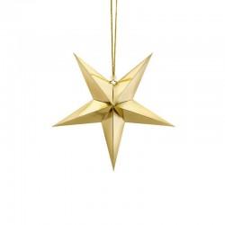 DEKORACJA świąteczna Gwiazda papierowa ZŁOTA 30cm