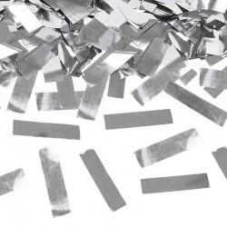 KONFETTI WYSTRZAŁOWE na Sylwestra metaliczne paski SREBRNE