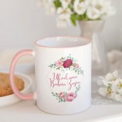 PREZENT na Dzień Babci kubek Róże 330ml Z IMIENIEM