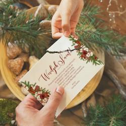 OPŁATEK wigilijny z życzeniami Z TWOIM PODPISEM Naturalne Święta