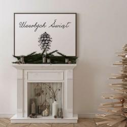 DEKORACJA świąteczna plakat Wesołych Świąt 50x70cm Szyszka