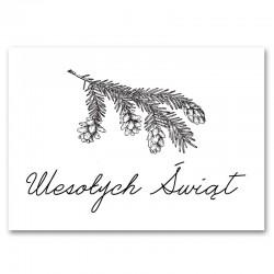 DEKORACJA świąteczna plakat Wesołych Świąt 50x70cm Gałązka