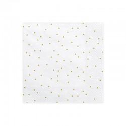 SERWETKI papierowe Gold Dots 33x33cm 20szt