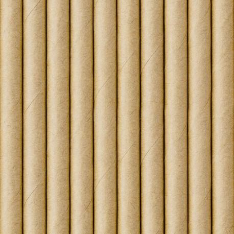 SŁOMKI papierowe kraft EKO 10szt