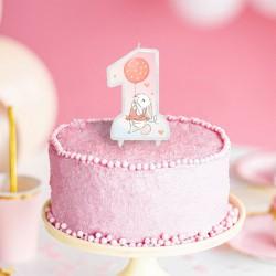 ŚWIECZKA na tort na Roczek Króliczek