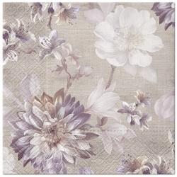 SERWETKI papierowe Kwiaty Vintage 33x33cm 20szt
