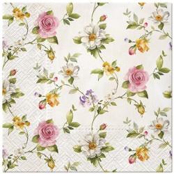 SERWETKI papierowe Drobne Kwiatuszki 33x33cm 20szt