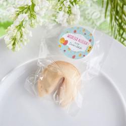 CIASTECZKO z wróżbą na Wielkanoc Z PODPISEM Jajeczka i kwiaty