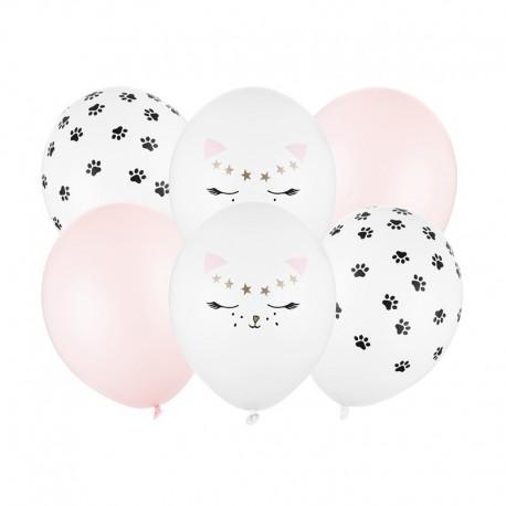 BUKIET z balonów na Roczek i urodzinki dziewczynki Słodki Kotek