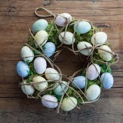 WIANEK wielkanocny z mchem i jajeczkami 30cm OKAZAŁY