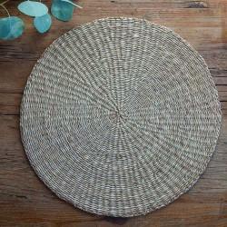 PODKŁADKA naturalna pod talerz okrągła duża 40cm
