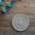 PODKŁADKA naturalna pod świece i talerzyk okrągła 15cm