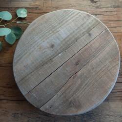 PODSTAWKA drewniana na nóżkach do aranżacji okrągła 35cm