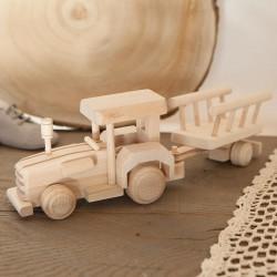 ZABAWKA drewniana dla chłopca Traktor