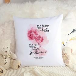 PREZENT dla Mamy poduszka Kwiaty Z IMIONAMI