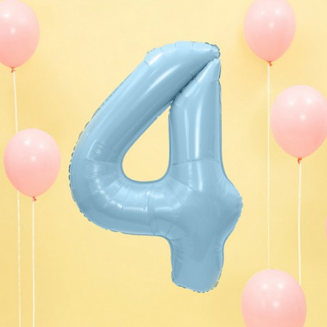 "Balon foliowy Cyfra ""4"", 35cm, niebieski"