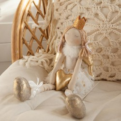 DEKORACJA pokoju dziecka Maskotka Księżniczka siedząca 45cm SUPER JAKOŚĆ