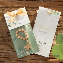 DZIESIĄTKA różaniec drewniana podziękowanie W OPAKOWANIU botaniczne