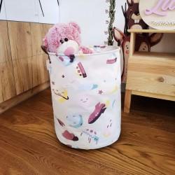 POJEMNIK na zabawki worek na pranie 40x50m PASTELOWY KOSMOS