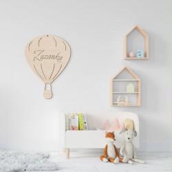 DEKORACJA pokoju dziecka Balon drewniany Z IMIENIEM 34x25cm