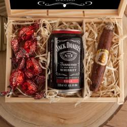 PREZENT dla Taty Dzień Ojca w skrzyni Z IMIENIEM Whiskey z colą